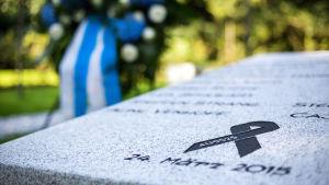 Minnessten för offren I Germanwingsolyckan den 24 mars 2015 i Haltern am See, Tyskland.