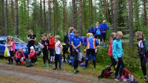 FSO-juniorer samlade för lägerträning i Pedersöre 2017.