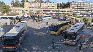 bussar på borgå busstation 05.10.15