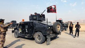 Den irakiska specialstyrkan CTS leder anfallet mot stadsdelar i östra Mosul som började den här veckan