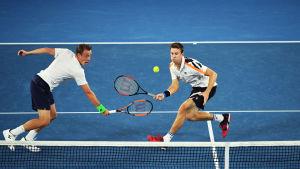 Henri Kontinen i par med John Peers vann herrarnas dubbelturnering i australiska öppna.