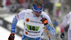 Iivo Niskanen  visade upp fin form i sprintstafetten.