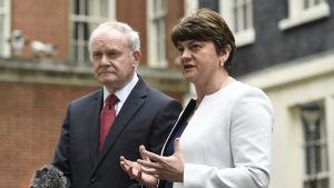 Det nordirländska lokalvalet utlöstes av att Sinn Féin-ledaren Martin McGuinnes avgick. Han såg valet som en folkomröstning om försteministern, unionisteldaren Arlene Foster