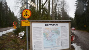 Skylt över Kopparnäs