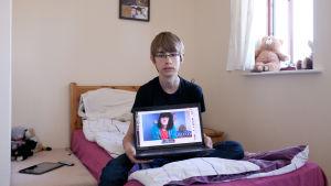 Yksi InRealLife-dokumenttielokuvan nuorista.