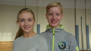 Dansparet Cassandra Juul Poulsen och Mikael Hagelstam
