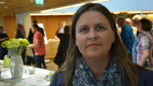 Enhetsdirektör Laura Vilkkonen på skärgårdsseminariet i Åbo