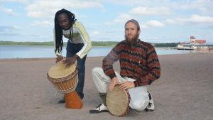 Obi Phrase och Daniel Nyman om evenemanget Kultur på stranden.