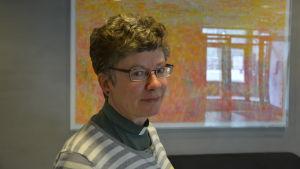 Irina Lemberg på Aurelia i Åbo.