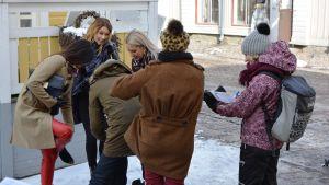 Inspelning av bikineitä ja timantteja i Borgå.