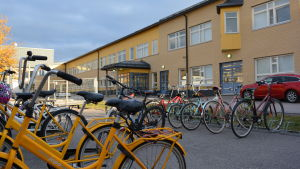 Cyklar på Lyceiparkens skolgård