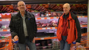 Bjarne Westeråker och Anders Forsman är inte oroliga för antibiotikaresistenta bakterier i kött.