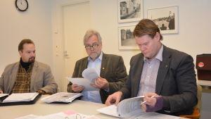 Werner Orre, Mårten Johansson och Jan Gröndahl