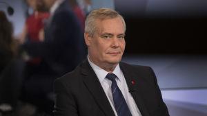 Antti Rinne Kohti vaaleja puheenjohtatentissä