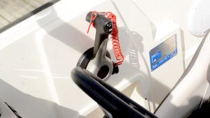 Gasreglage på en Buster XLe.