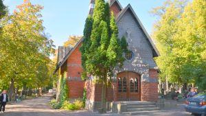 Kapellet på Näsebackens begravningsplats.