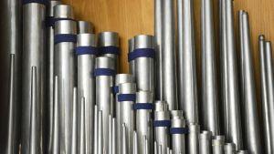Rör i Näsebackens kapells orgel.