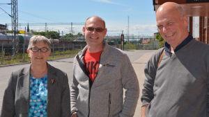 Margareta Gustafsson, Jörgen Hermansson och Ilppo Vuorinen