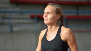 Sanna Nygård, trestegshoppare i Vasa IS., 2015.