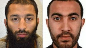 Khuram Shazad Butt och Rachid Redouane - attentatsmän i London 3.6.2017.
