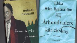 Pärmiblderna till Ebba Witt-Brattströms och Horace Engdahls böcker.