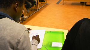 Patient på sin föreläsning.