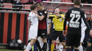 Njazi Kuqi kokade över mot HIFK.