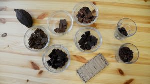 Lilla Chokladfabrikens olika choklader.
