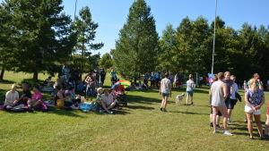 Efter paraden blev det picknick och program i Centralparken.