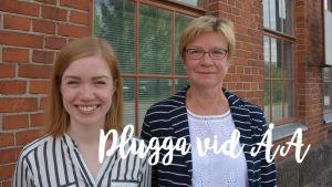 Kaisa Korpinen och professor Tuija Virtanen-Ulfhielm.