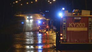 Haminantie nära Kotka är översvämmad