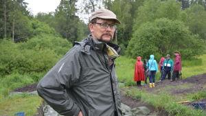 Utgrävningar vid Raseborgs slottsruiner.