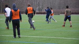 Fotbollsmatch..