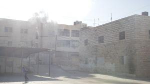 Tårgasad skola i Hebron 25.08.2014