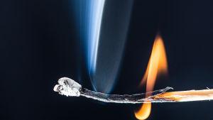 En tändsticka som snart brinner ut.