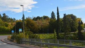 Stationsbacken vid Karis järnvägsstation.