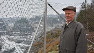 Lennart Laurén, tidigare chefsgeolog vid kalkstensdagbrottet i Pargas.