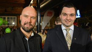 Valets stora röstmagneter i Vasa: Kim Berg (SDP) och Joakim Strand (SFP).