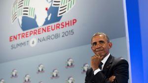 Obama talade på lördagen vid öppningen av mötet Global Entrepreneurship Summit i Nairobi.