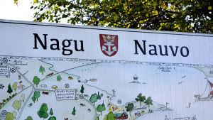 Turistkarta i Nagu