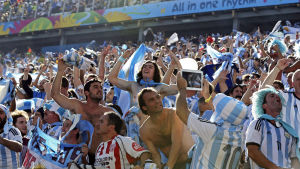 Argentinska fans under VM 2014