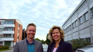 Tim Wallin, vd för Gambit Labs och Susanna Slotte-Kock, utvecklingsdirektör vid Vasa stad.