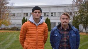Andreas Strandvall och Jonas Pitkäkangas från Vasa IFK