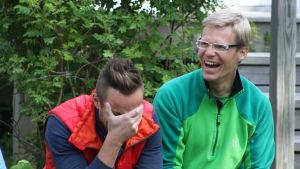 Mitt triathlon gänget underhåller Jontti Granbacka och Markus Holmlund