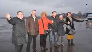 Peter Tanzer, Ralf Lindén, Tiina Holmberg, Michael Douglas, Lillemor Granlund, Yvonne Korenius