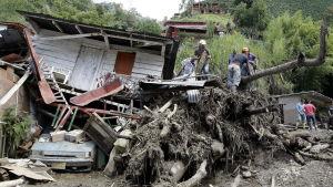 Jordskred i Kolombia.