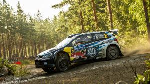 Jari-Matti Latvala i finska VM-rallyt 2015.