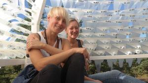 Sandra Nyberg och Pia Rousku