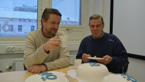 Rolf Reinblom(vänster), Erik Fagerroos(höger)