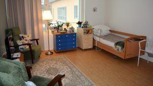 Ett rum på Villa Majberget.